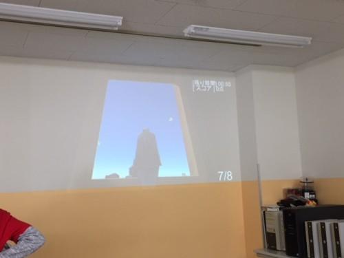 高知開成専門学校 日翔祭/なかなか難しかったハンドガンのシューティングゲーム