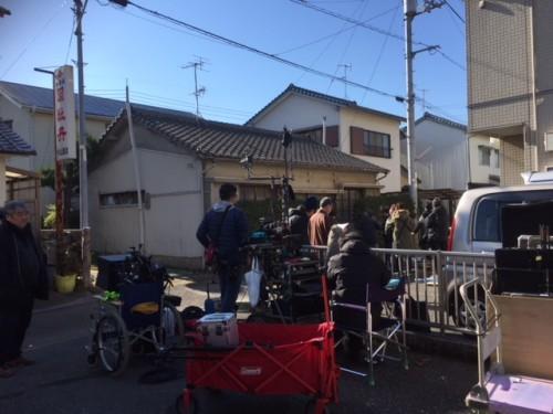 高知市下島町にて「映画撮影風景」