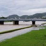 鏡川 公園浸水