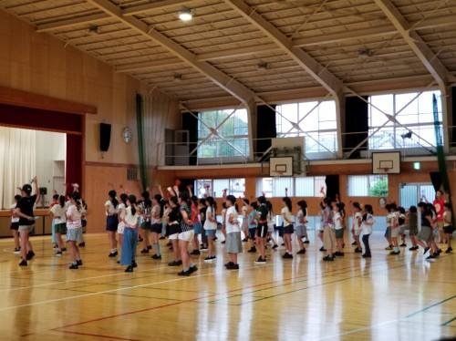 よさこい祭り 踊り練習風景